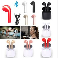 Wholesale Music Box Noise - i7S TWS Bluetooth Wireles Headphones with Charger Box Earbuds Stereo bass music Headset for cell phone In-Ear Earphone with box