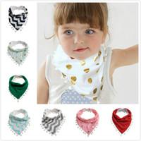kız baş eşarp bandana toptan satış-1 Adet Bebek Kız Erkek Çocuklar Tükürük Havlu Bandana Dribble e Önlükler Bebek Kafa Scarf-P101