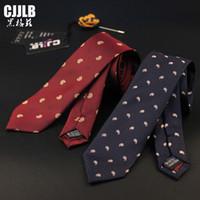 широкие красные галстуки оптовых-Узкие Пейсли шеи галстуки для мужчин синий красный 6 см широкий мужские галстуки свадебные костюмы полиэстер шелк Gravatas бизнес тонкий Corbatas