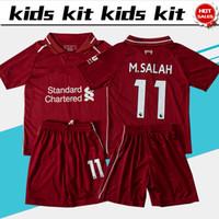 b989e26853 11 M.SALAH futebol Jersey Crianças Kit 18 19   9 FIRMINO casa menino  vermelho Camisas De Futebol 2019 Criança Camisas De Futebol uniforme 2018  19 jersey + ...