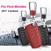 ford cover para llavero al por mayor-Smart Key Keyless Remote Entry Fob Funda con llavero para Ford Mondeo