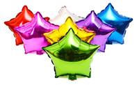 aufblasbare party dekoration stern großhandel-18 zoll fünfzackigen stern aluminiumfolie luftballons hochzeit dekoration liebe helium ballon aufblasbare luftkugeln partei liefert