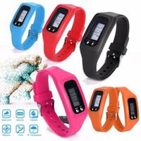 наручные часы для браслетов оптовых-Дизайн моды цифровой ЖК-шагомеры спортивные электронные руки браслет часы ремешок шагомер Спорт выполнить шаг счетчик калорий
