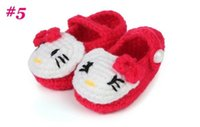 Wholesale baby girls loafers online - Hot Sale baby Knitted shoes Crochet shoes Handmade Knit shoes Casual Baby Girls Infant toddler Girls prewalker