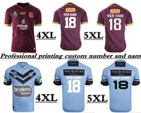 Wholesale Rugby Names - 2018 NRL JERSEYS (Professional printing custom number and name) 2018 QUEENSLAND MAROONS JERSEYS sizes S-5XL NSW SOO 2018 JERSEY hurricanes
