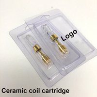 Wholesale blister shell - Blister shell Packing Gold color A9S concentrate Co2 oil Glass tank Ceramic Coil 0.5ml 510 Vaporizer vape Carts OEM cardstore