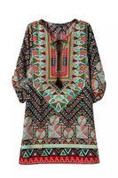 ingrosso nastri uniti-Europa e Stati Uniti Womens Sexy Casual Dress manica corta Stampa Ribbon Maxi Long Summer Women Beach Dress Costumi da bagno per donna 5XL