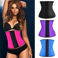 Wholesale womens sexy corsets - Hot Sexy Womens Waist Trainers Corset Neoprene Latex Body Shaper Ladies Slimming Belt Modeling Strap Shapewear Waist Cincher