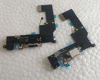 carga del muelle iphone 5s al por mayor-NUEVO Cargador Puerto de carga Puerto USB Cable flexible para iPhone 5S Auriculares Audio Jack Flex Ribbon