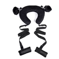 Wholesale adult pillows resale online - Adult Sex Position Master Leg Spreader Straps with Padded Neck Harness Erotic Bondage Kinky Sex Pillow Toy for Couples