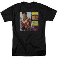 ingrosso cappuccio blu per gli uomini-Elvis Blue Hawaii Album T-shirt Canotte per Uomo Donna o Bambino Moda Uomo Abbigliamento Hipster Cool O Neck Top