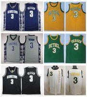 Wholesale allen iverson georgetown jersey - Georgetown Hoyas Allen Iverson College Basketball Jersey University #3 Allen Iverson Shirts Cheap Retro Stitched Jerseys S-XXL