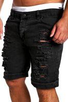 gerippte skinny jeans verkauf großhandel-Großhandels-Neue Ankunfts-Mann-Art und Weise zerrissene Jeans-Kurzschluss-Hosen lösen Denim-Hosen-Kurzschluss-Jeans M-2XL heiße Verkäufe