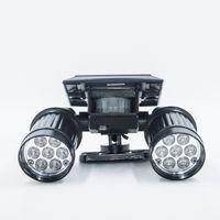 Wholesale portable spotlight for sale - Solar Motion Sensor Light Outdoor Double Spotlights LED Dual head Waterproof Rotatable Solar Powered Security Lights for Patio Garden