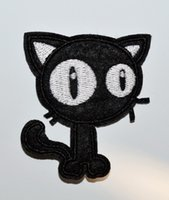 ingrosso goth patch-VENDITA CALDA! Applique Iron On Patch punk Black Cat Goth Bike Biker ricamato