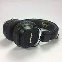 наушники профессионального качества оптовых-Высокое качество Marshall Major II беспроводные наушники Bluetooth-гарнитура высокое качество профессиональный HiFi наушники черный