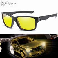gafas de ciclismo polarizadas amarillas al por mayor-Long Keeper Square Polarized Cycling Driving gafas de sol para mujeres hombres Yellow Night Vision gafas de ciclismo conductor gafas de sol
