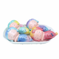 Wholesale mermaid toy online - Slow Rising Cute Cartoon Mermaid Squishies Fresh Flexible Soft Pu Squishy For Relief Stress Props Toys Hot Sale cr Z