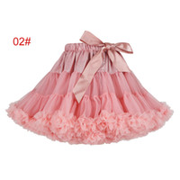 1 to 6 Girls tutu bow skirts, summer baby tulle dance party wedding clothing, children ball grown, kids & teenager boutique, R1AA406SK-37