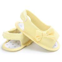 schöne tops für mädchen großhandel-Arbeiten Sie schöne Sommermädchenbaby-Bowknotsandaletten des neugeborenen Säuglings beiläufige Prinzessin-Krippe im Freien im Freien um, Qualität der Schuhe
