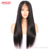 Wholesale cheap full lace yaki human hair online - Pre Plucked Top grade Brazilian Remy Human Hair Wigs Cuticle Aligned Full Lace human Virgin Hair Wigs Straight cheap