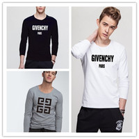 Wholesale fashion design clothing for men online - France tops tee Fashion design Luxury man G long sleeve tshirts cotton poloshirts hip hop t shirts for mens womens top street clothing