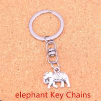 Wholesale metal elephant keychain resale online - New Arrival Novelty Souvenir Metal Thailand mounts elephant Key Chains Creative Gifts Keychain Key Ring Trinket Car Key Ring