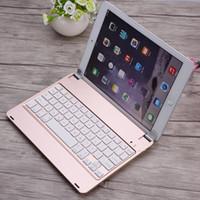 estuche plegable para teclado al por mayor-Recargable Fold Teclado Bluetooth Teclado Inalámbrico ABS Llaves Funda para iPad Air 1 Teclado para Tablet PC Juego Teclado