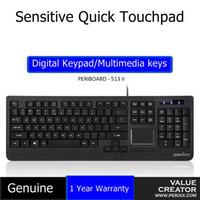 cable usb touchpad al por mayor-PERIXO PERIBOARD-513 USB con cable Touchpad Teclado multimedia sensible a la función del panel táctil para el hogar y el uso industrial