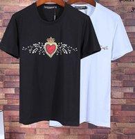 Wholesale Men Fashion Jewel - Hot Sale High Quality Fashion Of Men Crown Jewel Print Luxury Designer T-Shirts Casual Short Seelve Mens Clothing