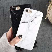 acessórios de maçã 5s venda por atacado-Luxo padrão de mármore telefone case para apple iphone x 8 7 6 6 s plus 5 5S se preto acessórios do telefone coque