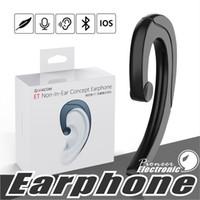 tapones para los oídos al por mayor-Auriculares inalámbricos Bluetooth Auriculares de conducción ósea Auriculares estéreo Sin auriculares con micrófono para Samsung iphone x 8 Plus Smartphone