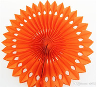Wholesale pinwheel flower resale online - 20cm Honeycomb Paper Flower Fan Birthday Party Ornamental Furnishings Circular Diy Hollow Papers Fans Pinwheels Flowers Crafts ym gg