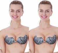 ecbc2edae5 Hot Elegant Black Lace Nubra Adhesive Bras Invisible Self-Adhesive Silicone  Breast Bra Pad A B C D Cups CPA822
