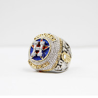 Wholesale white fans - Newest Championship Series jewelry 2017 2018 Houston Astros World Baseball Championship Ring Altuve Springer Fan Gift wholesale custom