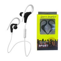 Wholesale Hook Over Ear Headphones - BT1 Wireless headset Bluetooth Sport Earhook Earbuds Stereo Over-Ear Wireless Neckband Headset Headphone with Mic for Universal Cellphone