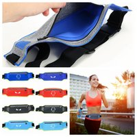 Wholesale thin waist bag - Waterproof Waist Pack Bag Belt Hip Bum Pouch Chest Bag For Outdoor Sport Running Jogging Ultra Thin DDA620 Children Purse