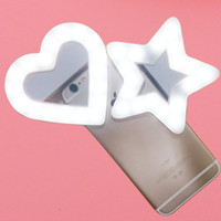 Wholesale camera shaped for sale - USB Charge LED Portable Flash Led Camera Clip on Mobile phone Ring light video lights Enhancing For Cell Phone Star Heart Shape