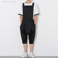 Wholesale jumpsuits for men - Wholesale-2016 Fashion Brand Trousers Rompers For Men Drop Crotch Harem Pants Cargo Overalls Casual Mens Pants Jumpsuit