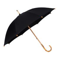 Wholesale Metal Rattan - Hot Sale Brand Large Umbrella Men Retro Bamboo Rattan Curved Handle Quality Rain Umbrella Strong Windproof Anti UV Parasol