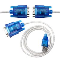 ingrosso gps rs232-Marsnaska 1PC 80cm USB 2.0 a RS232 COM Porta seriale PDA 9 pin DB9 Cavo da maschio a maschio M / M Adattatore per PC PDA GPS