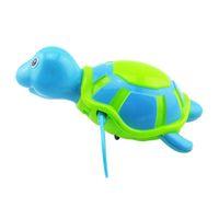 ванна с черепахой оптовых-Детские ванны игрушка плавать ванна черепаха плавающей воды заводной цепь детские классические игрушки случайный цвет