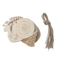 Wholesale wooden easter decorations wholesale - 10pcs Snails Easter Xmas Wooden Craft Ornament Christmas Tree Hanging Decoration