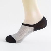 Wholesale sock slippers men for sale - 1 Pair Summer Mesh Breathable Short Socks for Men Stripe Non slip Silicone Socks Men s Ankle Invisible Boat Socks