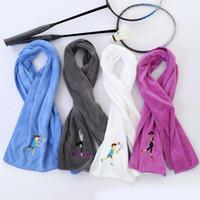 wasserabsorbierendes handtuch großhandel-25x110cm Ultradünne Faser Doppelseitige Samt Wasserabsorbierende Sport Schweiß-saugfähigen Tuch Handtuch