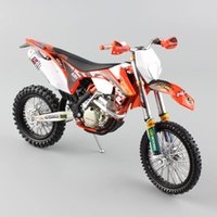 Wholesale Motor Bike Models - 1:12 scale Supercross KTM 350 EXC-F red bull racing Motorcycle Diecast metal Model Motocross enduro motor bike car miniature toy