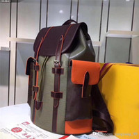 Wholesale authentic leather bags - 2018 Luxury Backpack Travel Leather Red Men Women Backpacks Authentic Quality 35x12x45 cm Back Bags School Outdoor Sports Packs