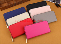 Wholesale organic brands - Hot MICHAEL KALLY famous brand fashion single zipper cheap luxury designer women pu leather wallet lady ladies long purse