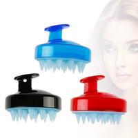 Wholesale relax bath - Shampoo Comb Silicone Teeth Hair Scalp Soft Massage Brush Hair Washing Comb Body Bath Massager Beauty Spa Tools