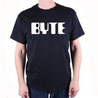dergi baskısı toptan satış-Byte Dergisi T Shirt-Klasik Logo Kült Vintage Bilgisayar T Gömlek Yeni 2018 Sıcak Yaz Rahat T Gömlek Baskı Kalça